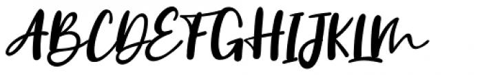 Vanilla Twilight Script Font UPPERCASE