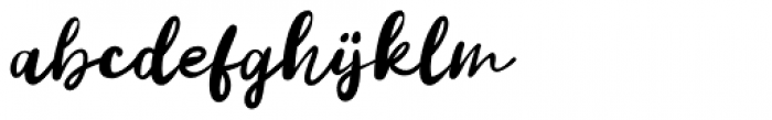 Vanilla Twilight Script Font LOWERCASE