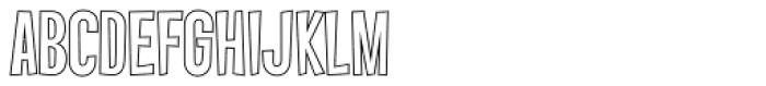 Vanishing Boy BTN Outline Font UPPERCASE