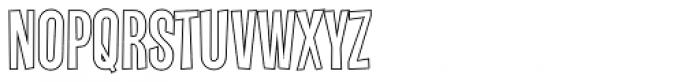 Vanishing Boy BTN Outline Font LOWERCASE
