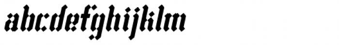 Vantagram Rounded Italic Font LOWERCASE