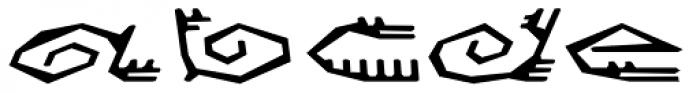 Varbur Broken Medium Slanted Font UPPERCASE