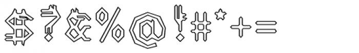 Varbur Broken Outline Font OTHER CHARS