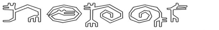 Varbur Broken Outline Font UPPERCASE