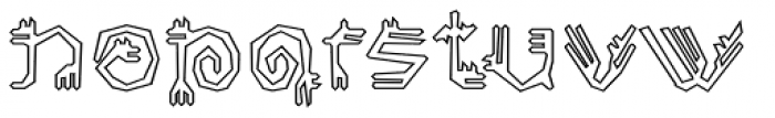 Varbur Broken Outline Font LOWERCASE