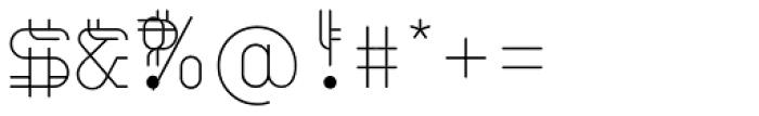 Varbur Light Font OTHER CHARS