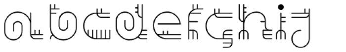 Varbur Light Font LOWERCASE
