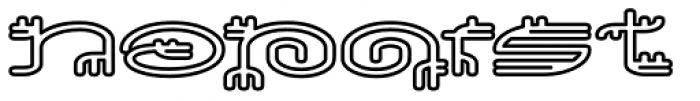 Varbur Outline Bold Font UPPERCASE