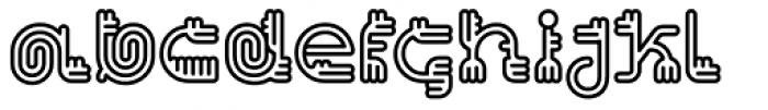 Varbur Outline Bold Font LOWERCASE