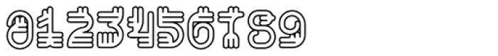 Varbur Outline Light Font OTHER CHARS