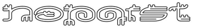 Varbur Outline Light Font UPPERCASE