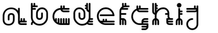Varbur Regular Font LOWERCASE