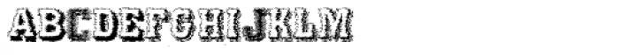 Varius Multiplex Multiformis Trash Font LOWERCASE