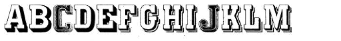 Varius Multiplex Multiformis Font UPPERCASE