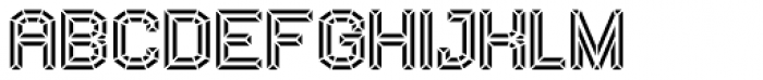 Vasarely Extruded Font LOWERCASE
