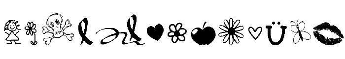 VBdingsTwo Font UPPERCASE