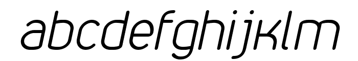 VDS Thin Italic Font LOWERCASE