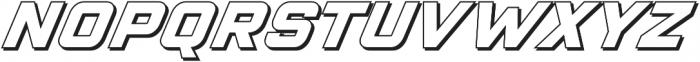 VELOCISTA Shadow otf (400) Font UPPERCASE