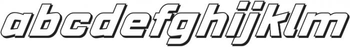 VELOCISTA Shadow otf (400) Font LOWERCASE