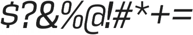 Vectipede Book Italic otf (400) Font OTHER CHARS