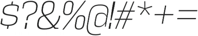 Vectipede ExtraLight Italic otf (200) Font OTHER CHARS
