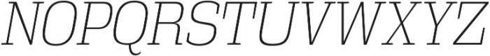 Vectipede ExtraLight Italic otf (200) Font UPPERCASE