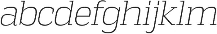 Vectipede ExtraLight Italic otf (200) Font LOWERCASE