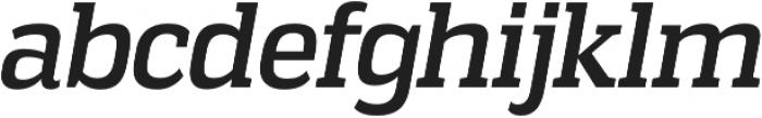 Vectipede Italic otf (400) Font LOWERCASE