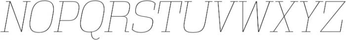 Vectipede UltraLight Italic otf (300) Font UPPERCASE
