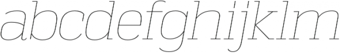 Vectipede UltraLight Italic otf (300) Font LOWERCASE