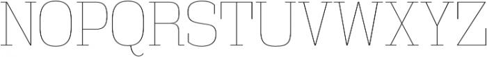 Vectipede UltraLight otf (300) Font UPPERCASE