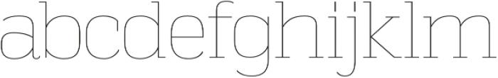 Vectipede UltraLight otf (300) Font LOWERCASE