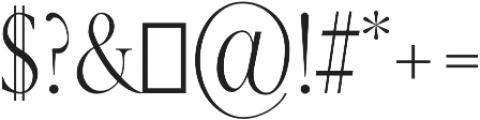 Veera Regular otf (400) Font OTHER CHARS