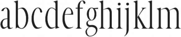 Veera Regular otf (400) Font LOWERCASE
