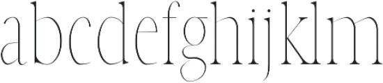 Veera Thin otf (100) Font LOWERCASE