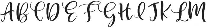Velvet Line otf (400) Font UPPERCASE