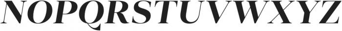 Vendura Bold Italic otf (700) Font UPPERCASE