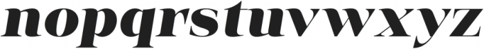 Vendura Heavy Italic otf (800) Font LOWERCASE