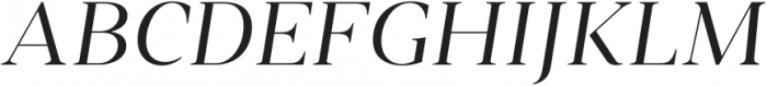 Vendura Light Italic otf (300) Font UPPERCASE