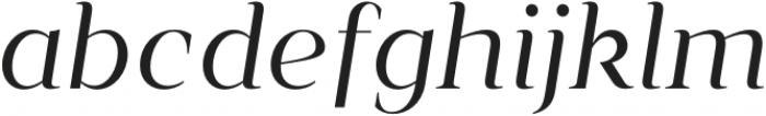 Vendura Light Italic otf (300) Font LOWERCASE