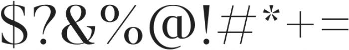 Vendura Light otf (300) Font OTHER CHARS