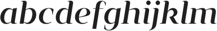 Vendura Medium Italic otf (500) Font LOWERCASE