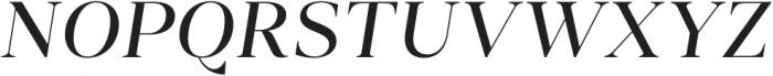 Vendura Regular Italic otf (400) Font UPPERCASE