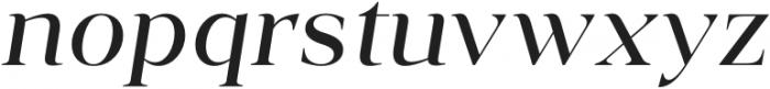 Vendura Regular Italic otf (400) Font LOWERCASE