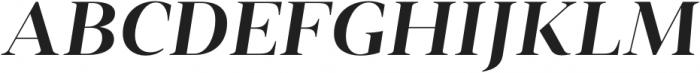 Vendura SemiBold Italic otf (600) Font UPPERCASE