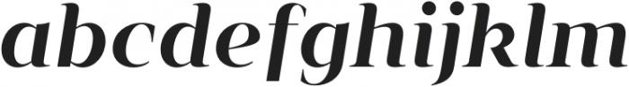 Vendura SemiBold Italic otf (600) Font LOWERCASE