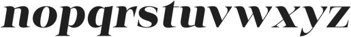 Vendura UltraBold Italic otf (700) Font LOWERCASE