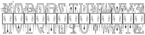 Venerable Monogram Maker 2 Letter otf (400) Font UPPERCASE