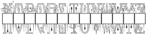 Venerable Monogram Maker 3 Letter otf (400) Font UPPERCASE