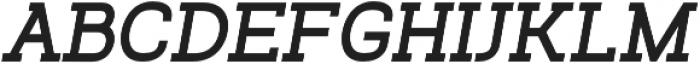 Venice Serif Bold Italic otf (700) Font UPPERCASE